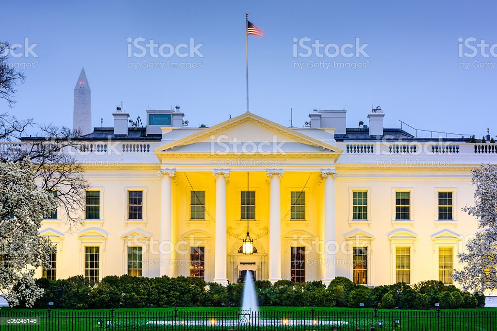 DC at the White House stock photo