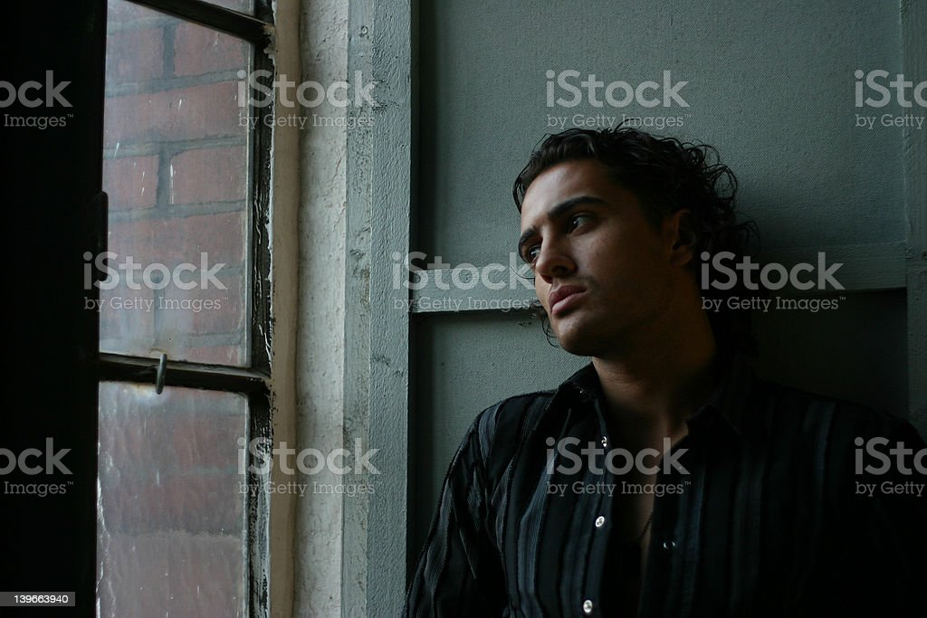 at the window royalty-free stock photo