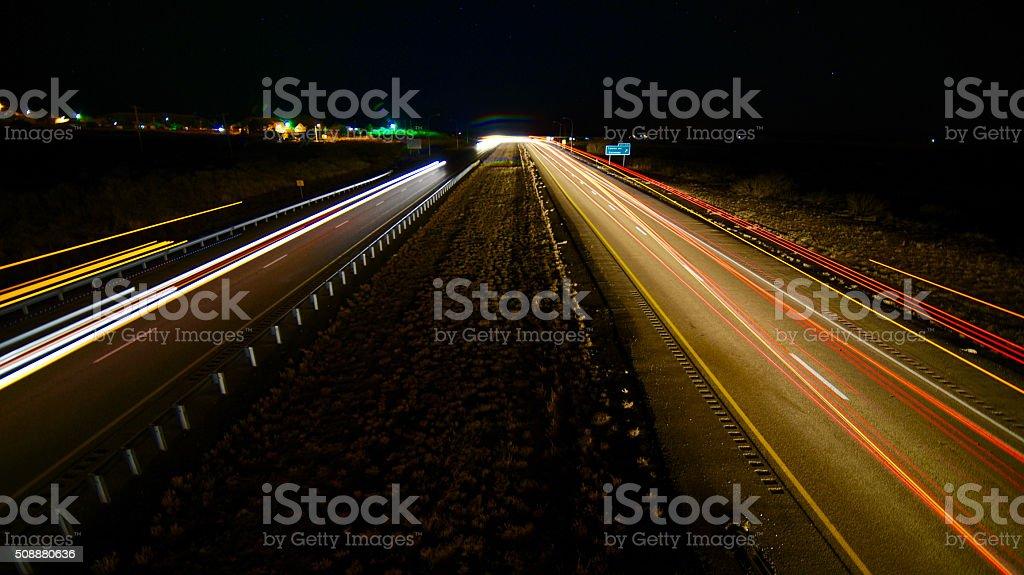 I-40 at Tucumcari New Mexico stock photo