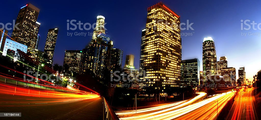 LA at Twilight stock photo