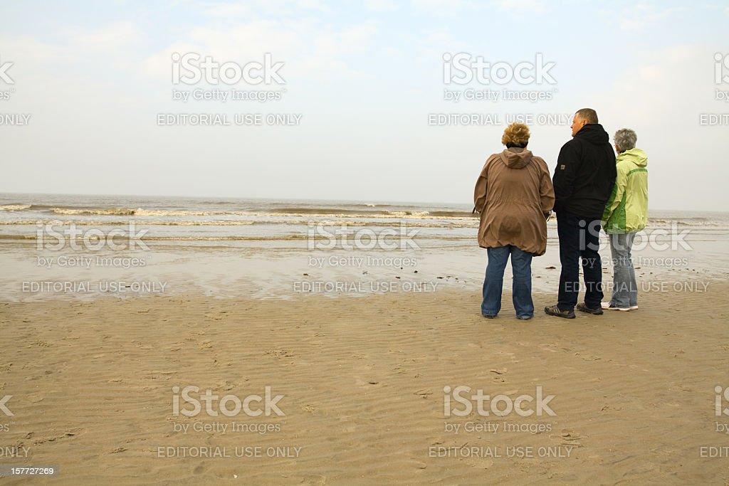 At Wadden Sea stock photo
