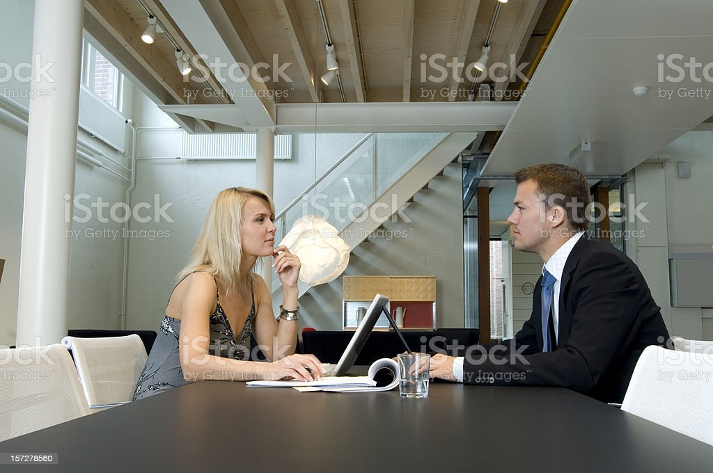 at work on laptops royalty-free stock photo