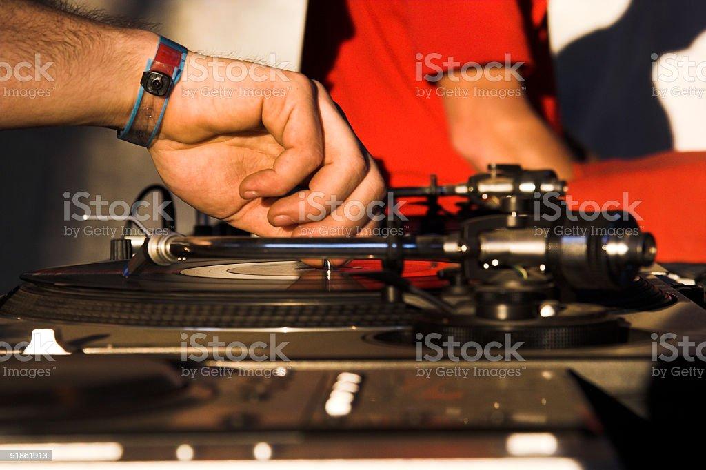 DJ at work stock photo