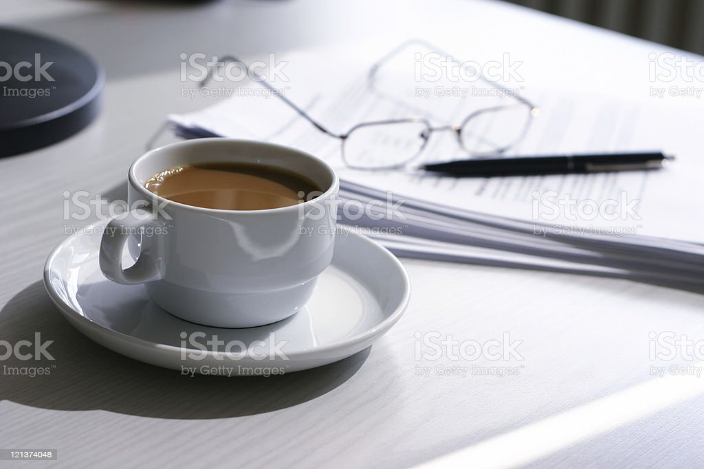at work  with coffee royalty-free stock photo