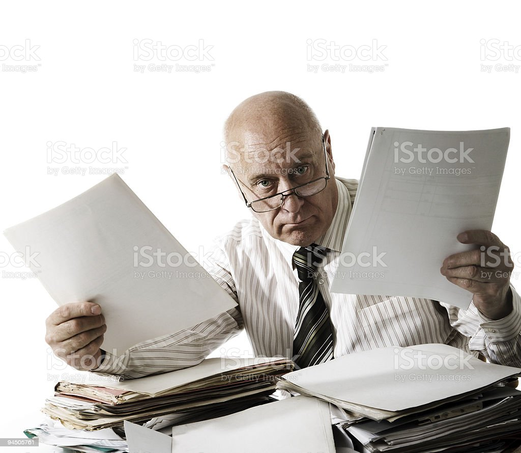 At you a problem with documents! stock photo