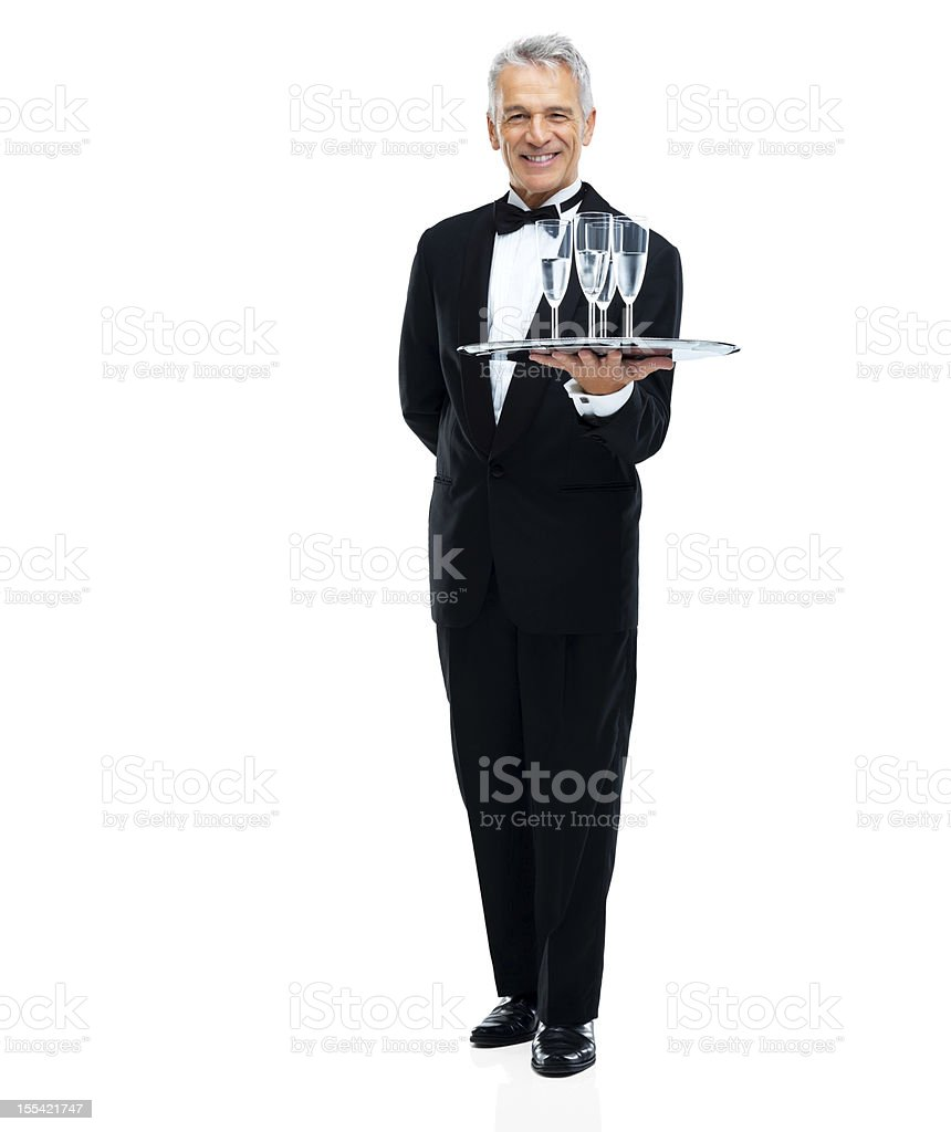 'At your service, sir' royalty-free stock photo
