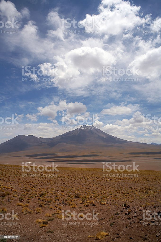 Atacama Altiplano - volcano royalty-free stock photo