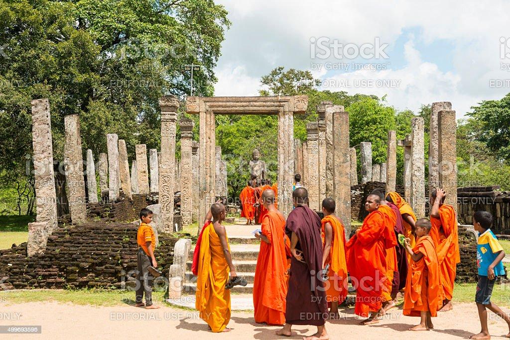 Atadage at Polonnaruwa stock photo