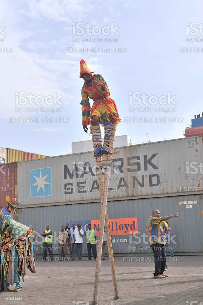 Atakpame Stilt Dancer stock photo