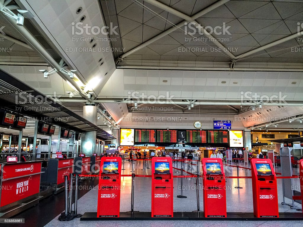 Ataturk airport, Istanbul stock photo