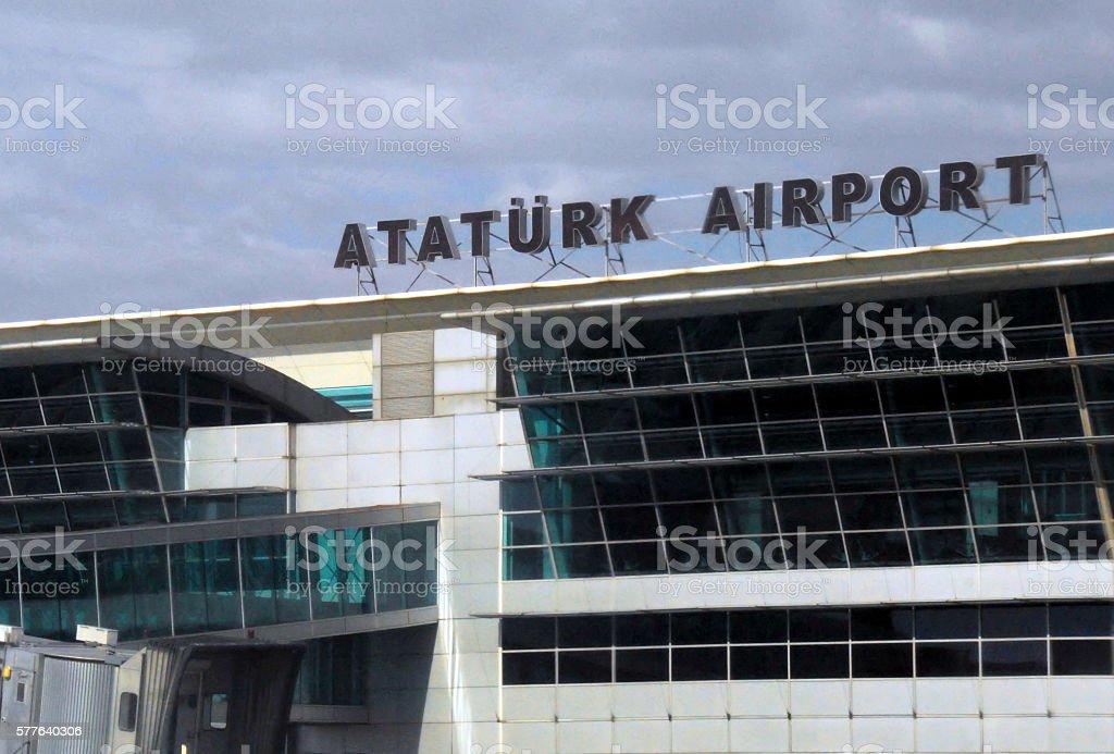 Ataturk airport, Istanbul, Turkey stock photo