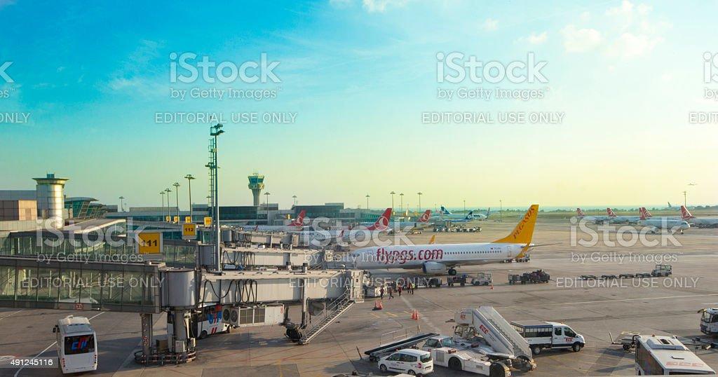 Ataturk Airport stock photo