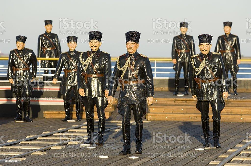 Ataturk and his friends sculpture. Samsun-Turkey royalty-free stock photo
