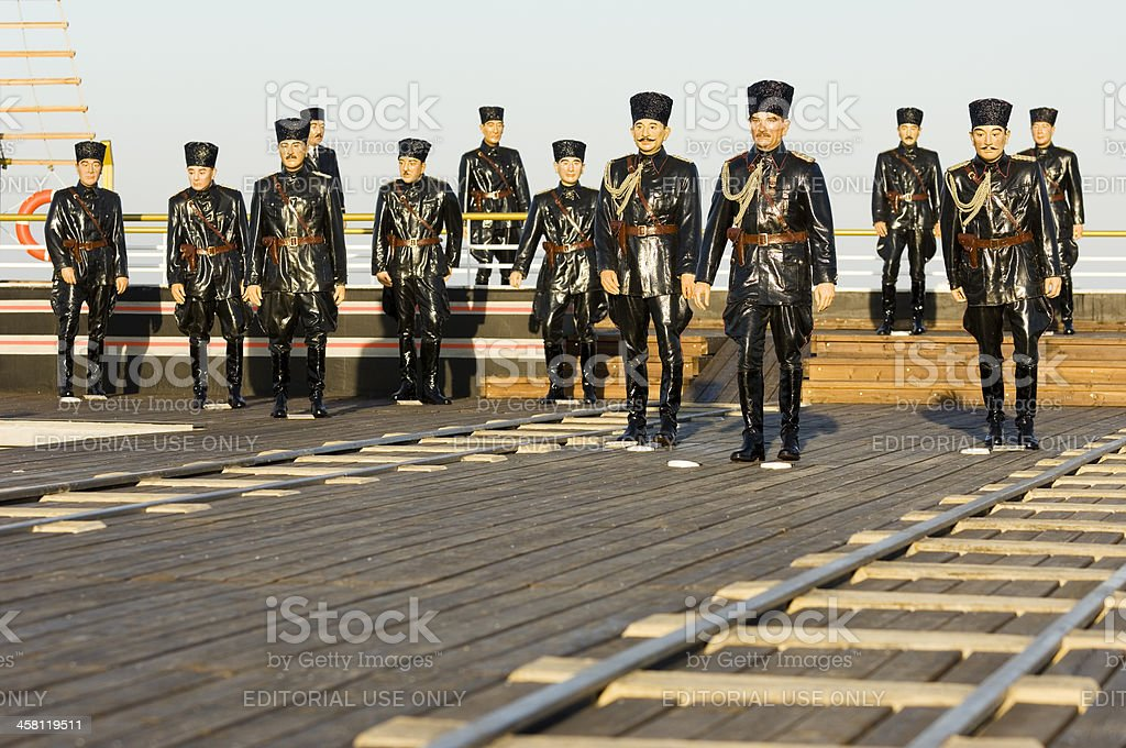 Ataturk and his friends sculpture. Samsun-Turkey royalty-free stock photo
