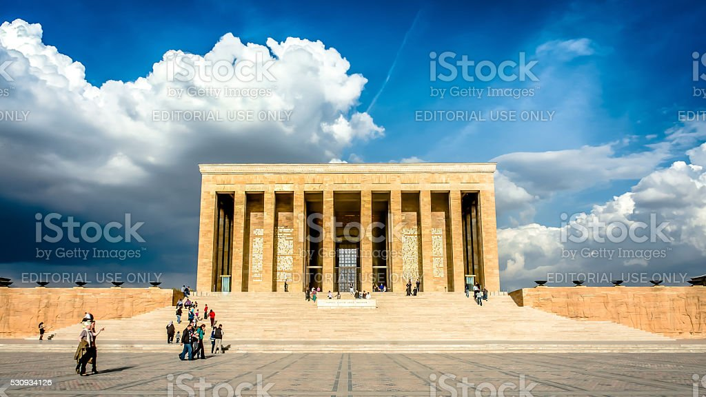 Ataturk Mausoleum, Anitkabir, monumental tomb of Mustafa Kemal Ataturk, stock photo