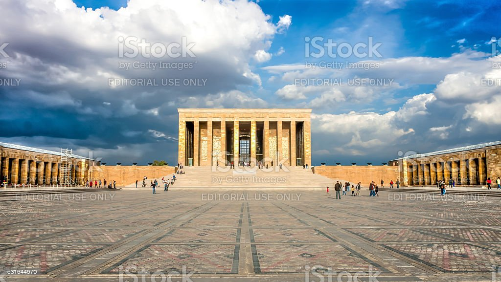 Ankara, Turkey - October 25, 2012: Ataturk Mausoleum, Anitkabir stock photo