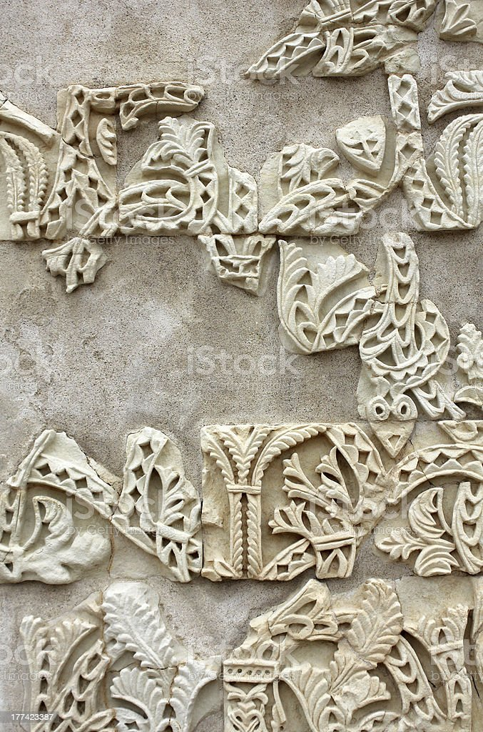 Ataurique the ruins of Madinat al-Zahra royalty-free stock photo