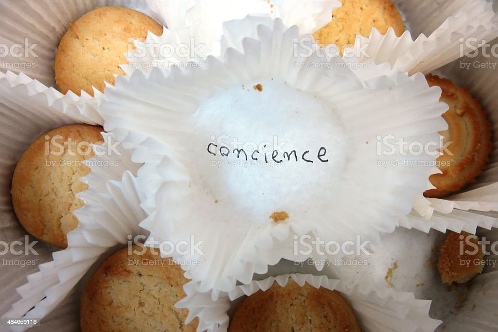 I ate a cookie stock photo