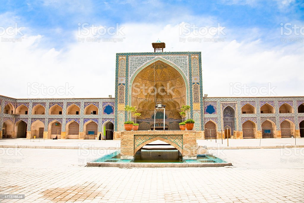 Ateegh Jame (Friday) Mosque.Esfahan,  Iran stock photo