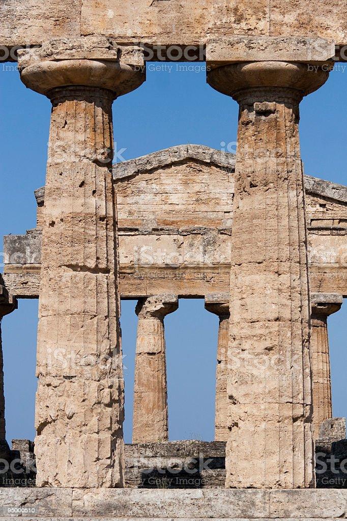 Atena temple (Paestum, Italy) stock photo