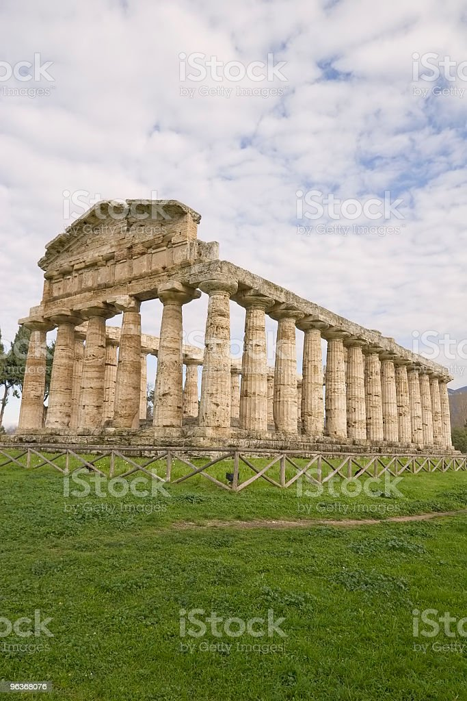 Atena temple (Paestum, Italy) royalty-free stock photo