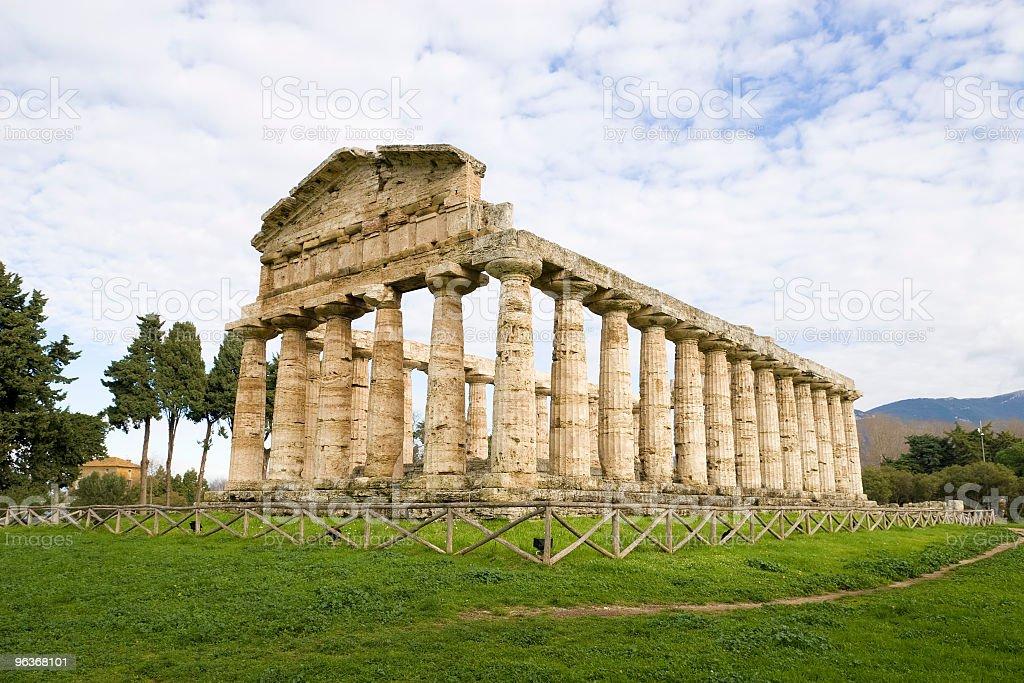 Atena temple (Paestum, Italy) royalty-free stock photo