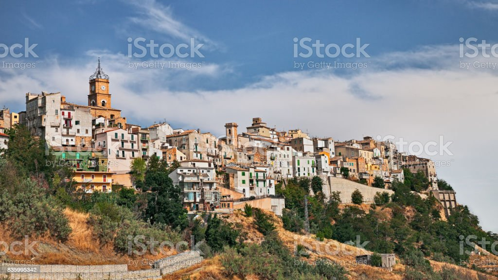Atessa, Chieti, Abruzzo, Italy: the old town on the hill stock photo