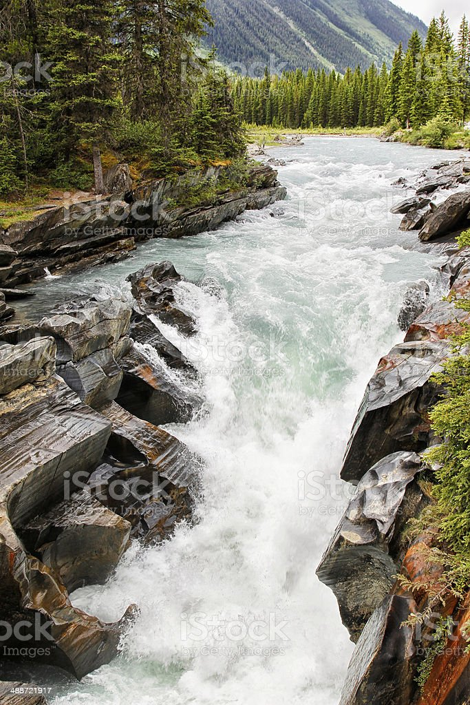 Athabasca Falls in Jasper National Park, Canada stock photo
