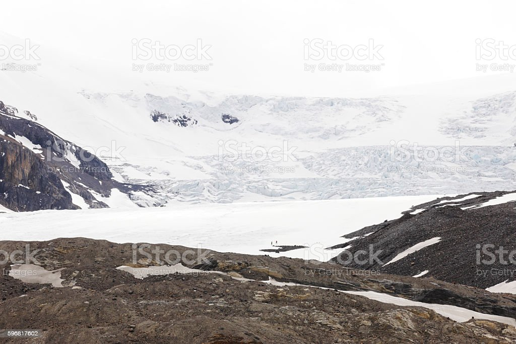 Athabasca Glacier Columbia Icefield Banff Jasper stock photo