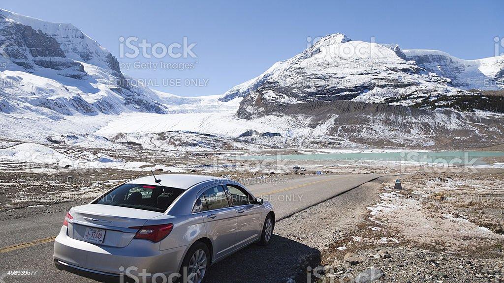 Athabasca Glacier, Columbia Icefield, Canada stock photo