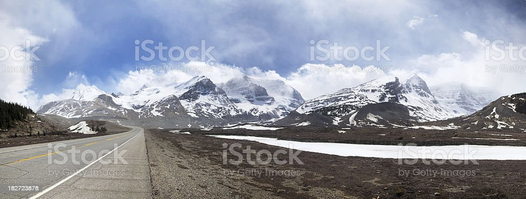 Athabasca glacier panorama stock photo