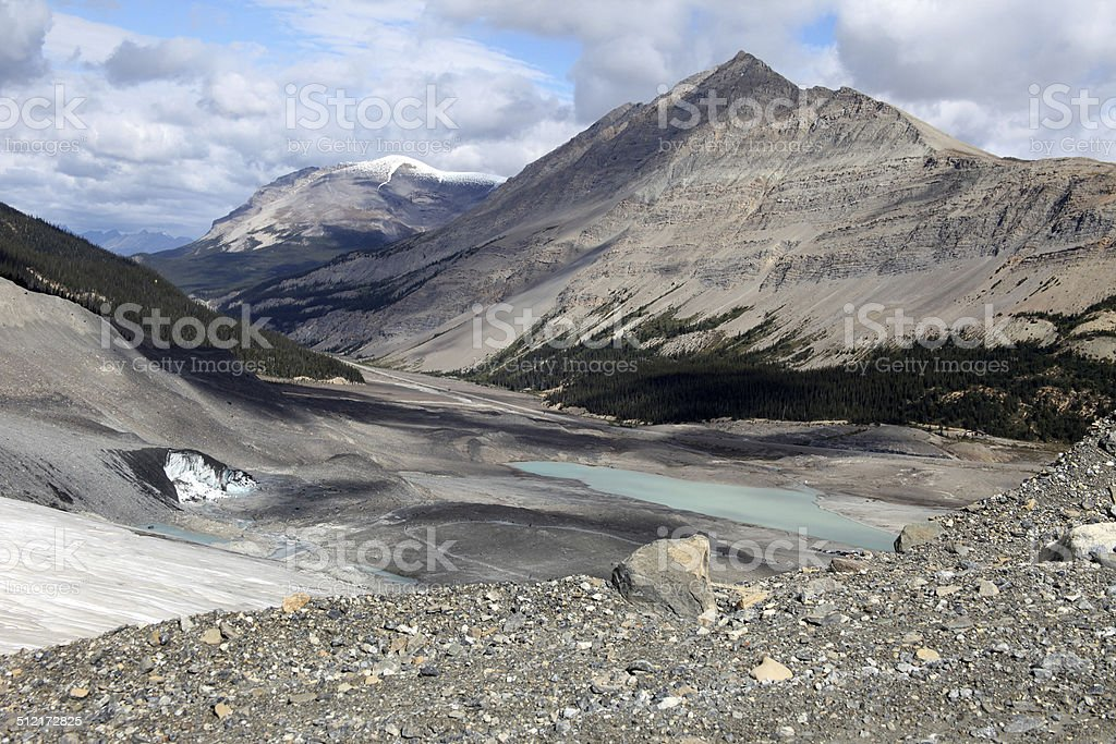 Athabasca Glacier stock photo