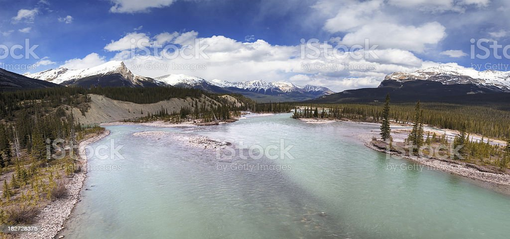 Athabasca river panorama stock photo