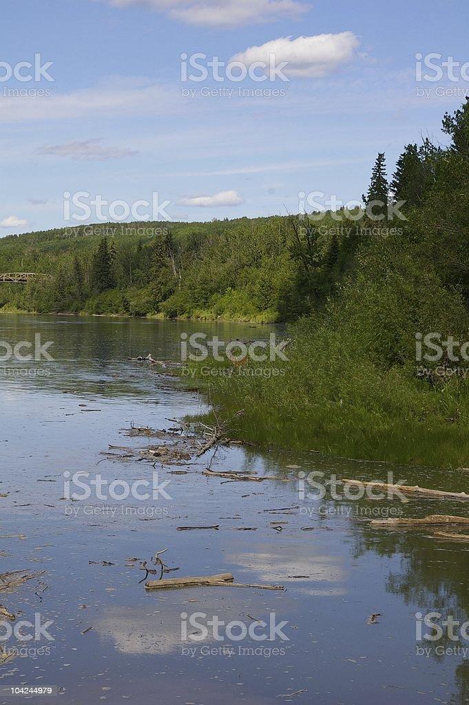 Athabasca river stock photo