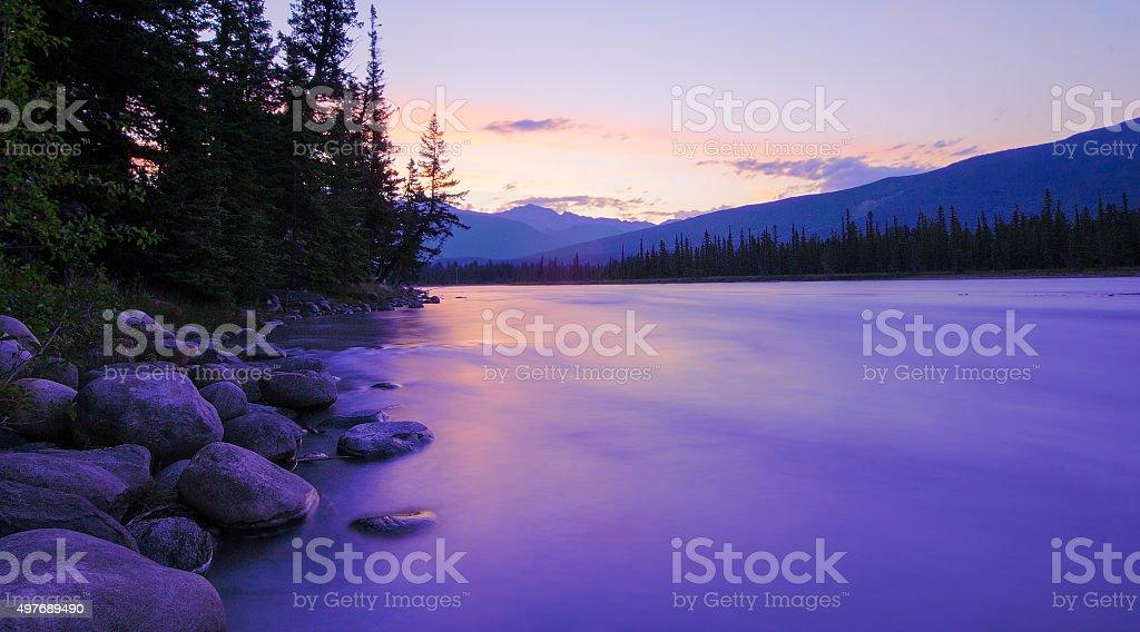 Athabasca sunrise stock photo