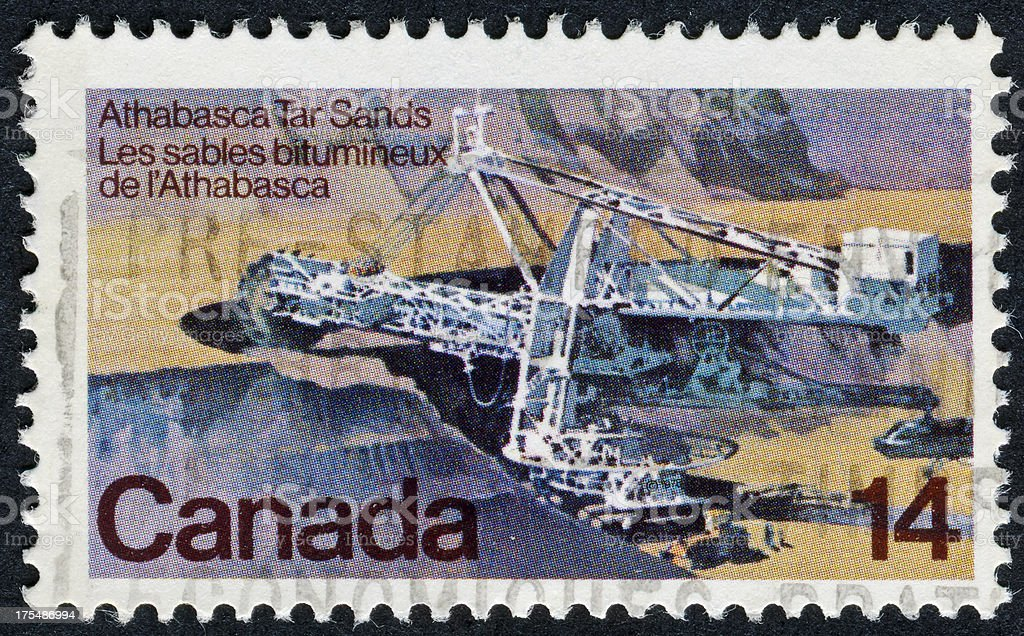 Athabasca Tar Sands Stamp stock photo