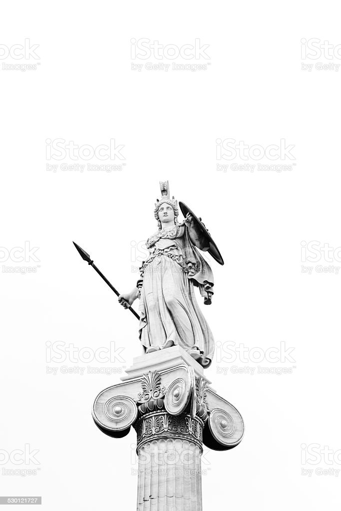 Athena Statue stock photo