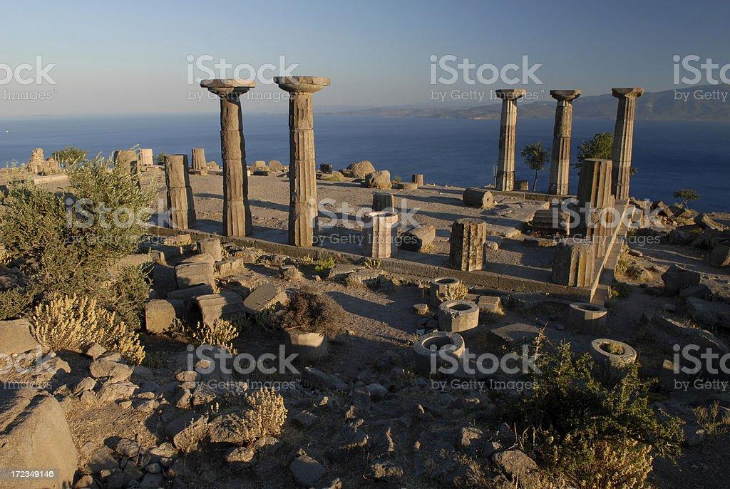 Athena Temple, Assos, Behramkale stock photo