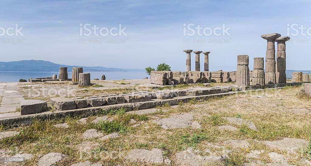 Athena Temple, Assos, Behramkale royalty-free stock photo
