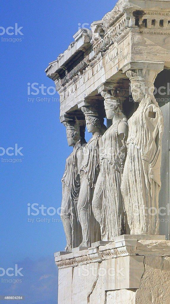 Athenian columns The Pantheon Acropolis  Athens Greece stock photo