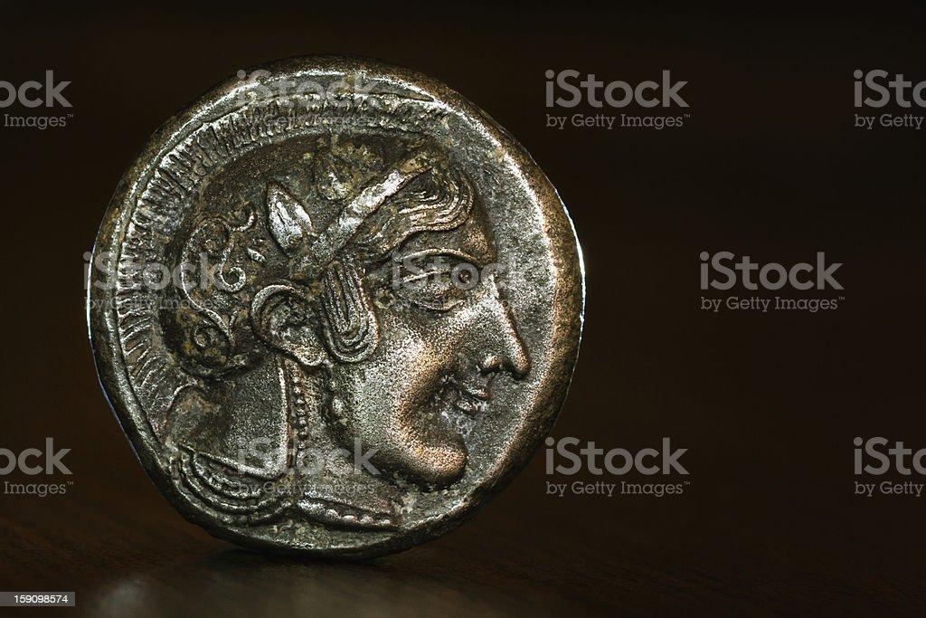 Athenian Owl Dekadrachm (obverse) stock photo