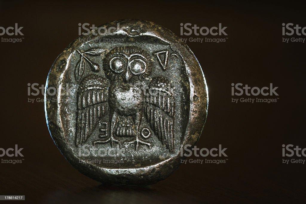 Athenian Owl Dekadrachm (reverse) stock photo