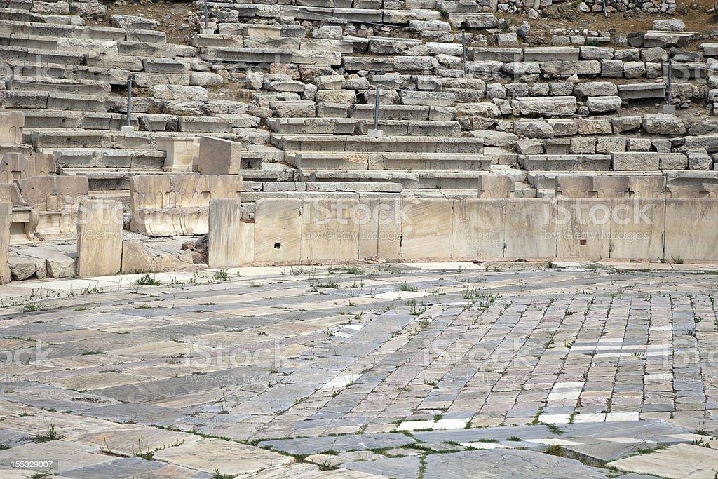 Athens Acropolis theater of Dionysus. royalty-free stock photo