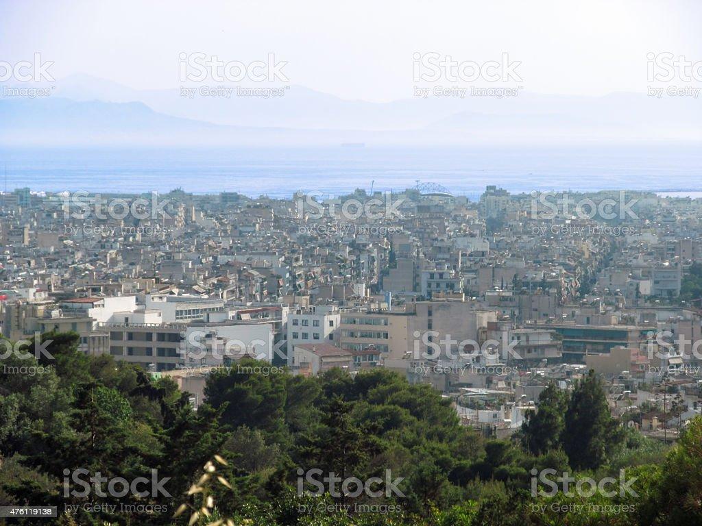 Athens city stock photo