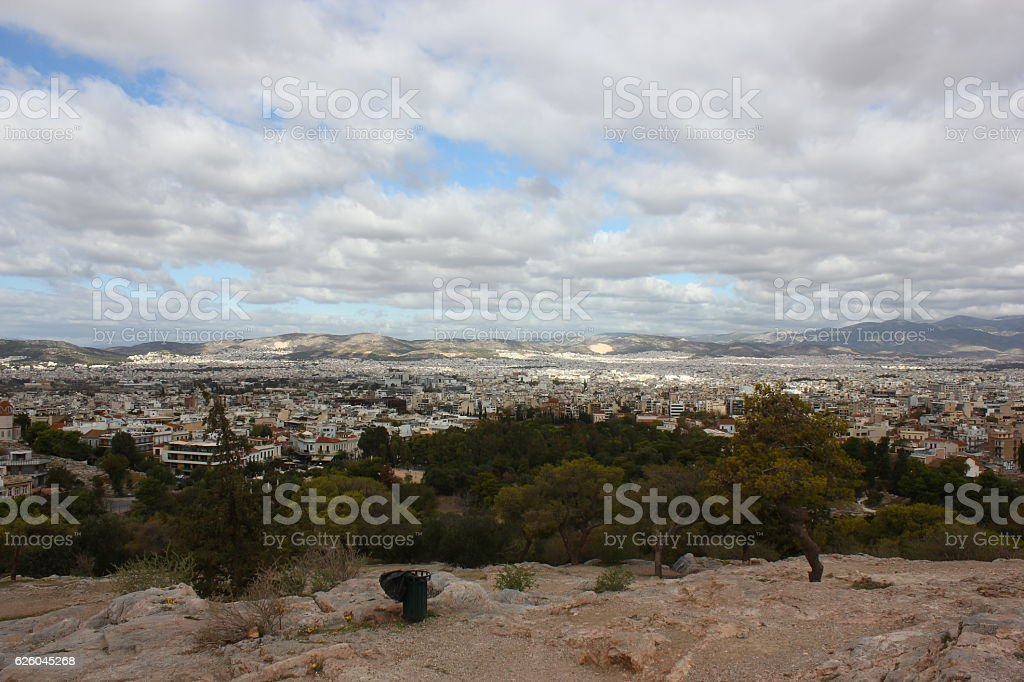 Athens City View stock photo