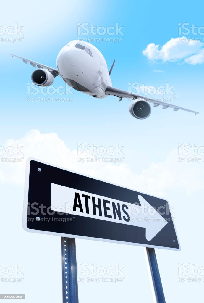 Athens flight stock photo