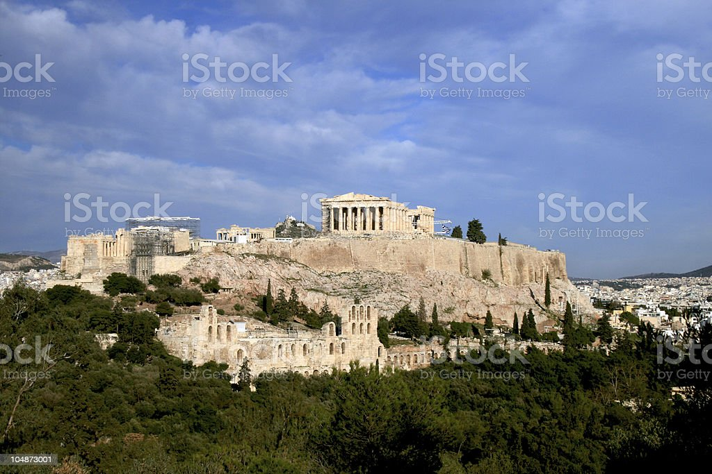 Athens Greece, Acropolis and the Parthenon stock photo