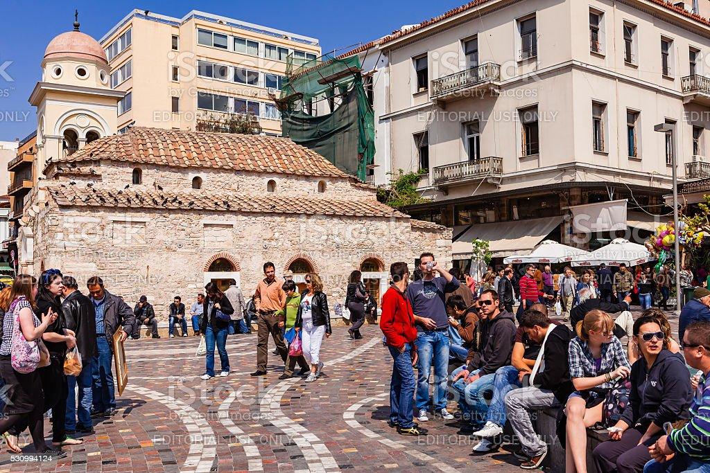 Athens, Greece - Monastiraki Square stock photo