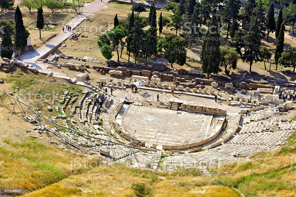 Athens, Greece - Theatre of Dionysus stock photo