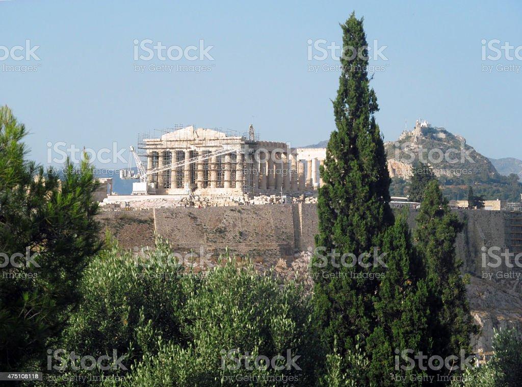 Athens hills stock photo